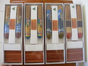 Gift Boxed Aboriginal Clap Sticks are Popular Australian Corporate Gifts