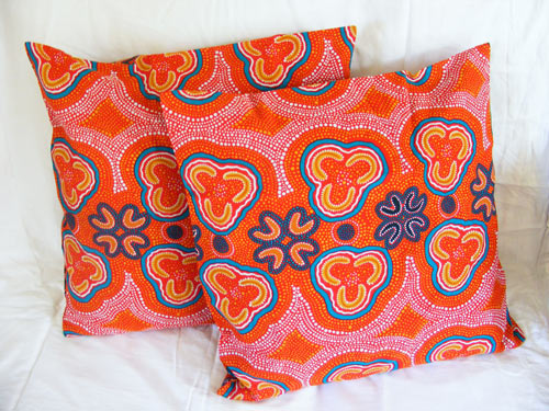 Set of 2 Cushion Covers featuring Aboriginal Art Design #04 - Australian Made : Available in the Homeware / Décor category of our online shop.