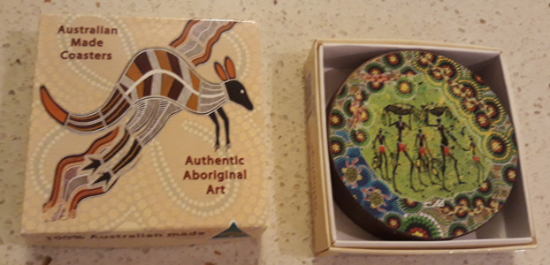 coasters - Aboriginal art coaster set @ Australia Gift Shop