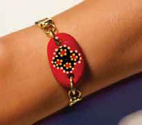 Jewellery - Aboriginal Art Bracelet - Indigenous Jewelry at Australia Gift Shop