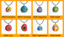 Necklace featuring Aboriginal Art (in 8 designs)