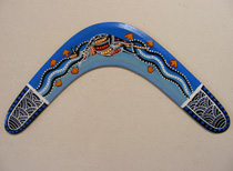 A Returning Boomerang : with Blue Kangaroo design 14""