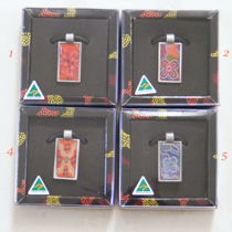 :: Pendant : Rectangular featuring Aboriginal Art (in 4 designs)