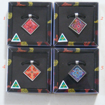 :: Pendant : Square featuring Aboriginal Art (in 4 designs)
