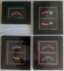 :: Aboriginal Art Framed Artifact : Four options