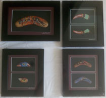 :: Aboriginal Art Framed Artifact : 4 options
