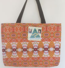 :: Tote Bag featuring Aboriginal Art Design #01