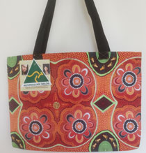 :: Tote Bag featuring Aboriginal Art Design #02