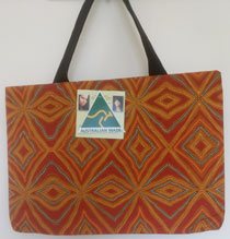 :: Tote Bag featuring Aboriginal Art Design #03