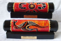 Emu Caller : Modern Aboriginal Art Design with Display Stand