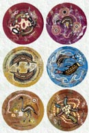 ":: Coaster Set (6 piece) : Aboriginal Art ""Nesting Season"" designs"