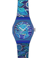 Aboriginal Art Watch with Whale Dreaming Design