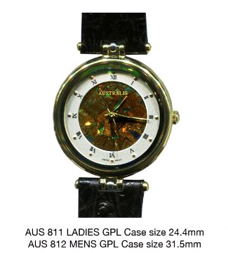 Australian Opal Watch from Australia Gift Shop : Australis Opal Watches are popular gifts for men, gifts for women, anniversary gifts, birthday gifts and gifts for all occasions.
