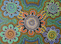 "Aboriginal Art Print with ""Connections"" Design"